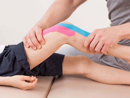 Physiotherapie am Knie